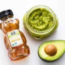 Маска из авокадо с медом