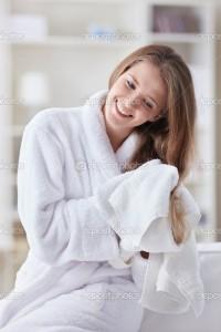 Девушка после ванны
