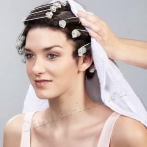 Повреждение волос завивкой