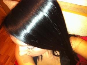 Блестящие волосы после желатина